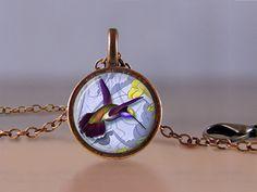 Lila Kolibri 2 Halskette Lucky Penny Schmuck von MaDGreenCreations