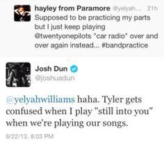 josh dun tweet | hayley williams paramore top tweet Twenty One Pilots Josh Dun…