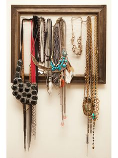 cool way to display your necklaces
