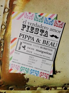 mexican fiesta invitations Pippa and Beaus Mexican Fiesta Engagement Party