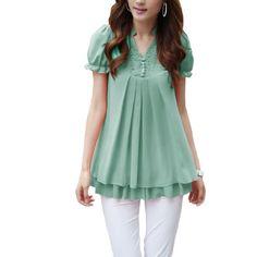 Women Flouncing Lace Solid Color V Neck Flare Shirts Ekberg,http://www.amazon.com/dp/B00E0IVC46/ref=cm_sw_r_pi_dp_A6hntb06J77ZQVDY