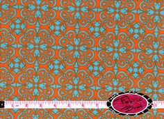 Designer Fabric by the yard HAPPY MEDALLION Fabric by FabricBrat, $7.49. Another kitchen possibility.