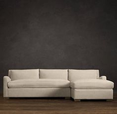 Belgian Slope Arm Upholstered Arm Chaise (on right of picture) - Restoration Hardware