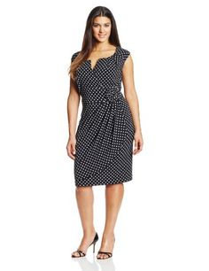 Adrianna Papell Women's Plus-Size Cap Sleeve Lap Over Dress, Black/White, 20W Adrianna Papell,http://www.amazon.com/dp/B00H4ULR8S/ref=cm_sw_r_pi_dp_fm3mtb17RJ51Z1P9