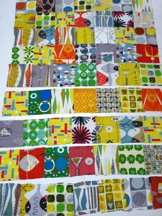 """Modflower - the most fabulous quilt in the world, by Jane Foster """"50s/60s fabric designs"""""""
