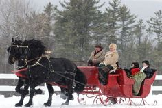 Horse Drawn Sleigh - wonderful things we've done at Christmas with my family