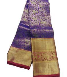 Purple Handloom Kanjeevaram Silk Saree
