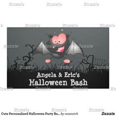 Cute Personalized Halloween Party Banner