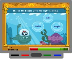 SMART BOARD - Tvokids.com has so many great games and videos. Here is a spelling game that I really like called the Amazing Spelling Fleas. There are several rounds to the game. The first consists of popping the bubble with the correctly spelled word. Then you'll move on to the next level where you choose the correct letter to complete the word, and so on. Check it out!