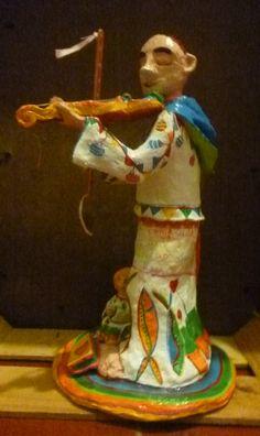 Santo António de Lisboa, em pasta de papel. Trabalho do PapaPapel Atelier.  http://papapapelfv.blogspot.pt/