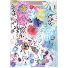 Christian Lacroix Christian Lacroix Papier - Samba A5 Hardbound... ($28) ❤ liked on Polyvore featuring home, home decor, stationery, backgrounds, journals, filler and multi