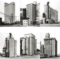 Grain Silos by Bernd and Hilla Becher