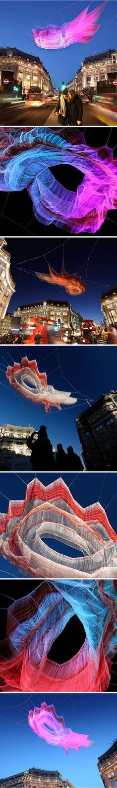 stunning installation in london by janet echelman