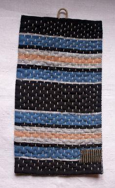 hand sewn table mat trivet in antique japanese indigo by lesamovar