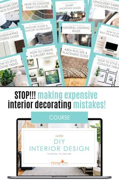 Learn the no-nonsense version of everything you need to know about interior decorating and design so that you can stop making mistakes that cost you your valuable time and money! Diy Interior, Interior Decorating, Rooms Ideas, Best Paint Colors, Paint Colours, Rustic Style, Rustic Modern, Midcentury Modern, Farmhouse Style