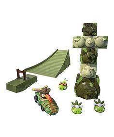 Angry Birds Go Jenga Tower Knockdown Game