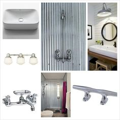 Bathroom Chrome boat cleats-hardware Galvanized metal shower