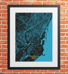 Barcelona Color City Map Print Digital Download, Spain, Street Map Art,map print, map poster,print map art travel, City Map Wall Art Map Wall Art, Map Art, Print Map, Poster Prints, Barcelona City Map, Printing Services, Online Printing, Travel City, Simple Prints