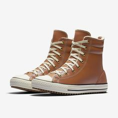 Converse Chuck Taylor All Star Leather and Faux Shearling High Rise Little/Big Kids' Boot
