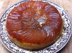 Wonderful step-by-step Recipe for Tarte Tartin.  This is what it will look like once its turned onto the plate.