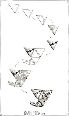 Узор для зентангла треугольники, 17