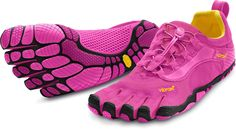 These minimalist shoes are getting rave reviews—Women's Vibram FiveFingers Bikila LS Running Shoes.