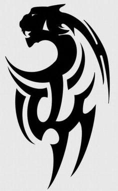 Tribal Tiger Tattoo, Tribal Animal Tattoos, Black Panther Tattoo, Tribal Drawings, Tribal Arm Tattoos, Leo Tattoos, Sugar Skull Tattoos, Tribal Tattoo Designs, Tribal Art