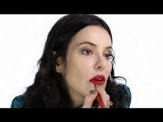 'Dita Von Teese' inspired matt red lips- great tips for makeing the lips last all night!