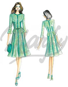 Our Patterns :: Marfy Collection 2014/2015 :: Autumn/Winter :: Sewing Pattern 3520 -