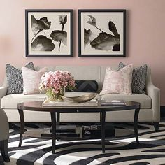 Pastels and soft colors are back. Check out this vignette and the Lauren Collection at Bassett Furniture