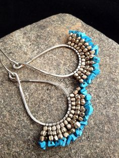 Hey, I found this really awesome Etsy listing at https://www.etsy.com/listing/170154701/turquoise-and-silver-drop-earrings