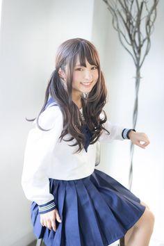 Japanese School Girl Cosplay After Game - School Girl Japan, School Girl Outfit, Beautiful Japanese Girl, Beautiful Asian Women, Cute Asian Girls, Cute Girls, Cute School Uniforms, Cute Girl Outfits, Kawaii Girl