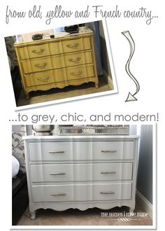 A modern makeover for a classic piece of furniture: from ugly ducking to chic beauty!