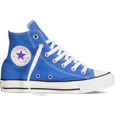 Converse Chuck Taylor All Star Fresh Colors – blue Sneakers ($40) ❤ liked on Polyvore featuring shoes, sneakers, converse, trainers, blue, star sneakers, converse sneakers, converse footwear, converse high tops and high top trainers