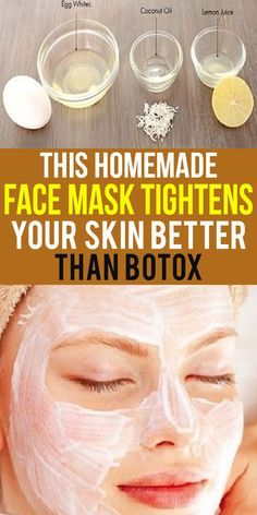 This Homemade Face Mask Tightens Your Skin Better Than Botox Are you one of them who are ready to do anything to look younger? Or are you fed up with all costly cosmetics that homelp you to look younger only for a few hours? Skin Secrets, Skin Tips, Natural Facial, Natural Skin Care, Natural Face Masks, Egg White Mask, Egg White Facial, Tightening Face Mask, Homemade Face Masks
