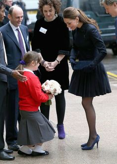 HRH is always so beautiful and lovingly patient with children. That is so special!