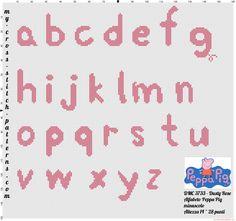 Cross stitch alphabet Peppa Pig lowercase - 3446x3236 - 3590444