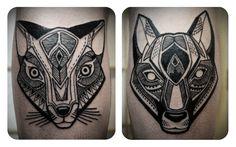 Geometric Tattoos / Love Hawk