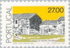Znaczek: Casas da Beira Interior (Portugalia) (Traditional Architecture) Mi:PT 1749,Sn:PT 1639,Yt:PT 1726,Afi:PT 1717