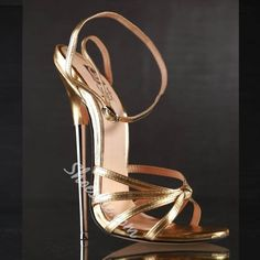 Woman sandals summer new fashion 16 cm red green high heels metal thin heel peep toe large size female party show shoes Green High Heels, Strappy High Heels, Super High Heels, Hot High Heels, Ankle Straps, Ankle Strap Sandals, Stiletto Heels, Dress Sandals, Gladiator Sandals