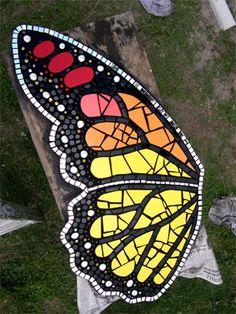 mosaïque papillon en cours 1 Claire-Lyne XYLENA Apothélo
