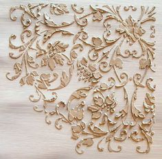 Raised Plaster Cardouche Stencil, Craft Stencil, Wall Stencil, Furniture Stencil, Painting Stencil. $34.99, via Etsy.