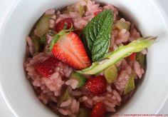 Risotto veg fragole asparagi_una vegetariana in cucina