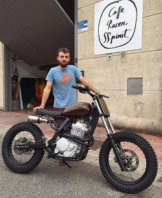 """The """"LM-0"""": #NX650 #tracker designed by @dab_design_ and built in collaboration with @caferacersspirit. Just debuted at @wheels_and_waves. Bodywork is linen fiber!"""