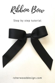 A Simple Bow Tutorial Thin Ribbon, How To Tie Ribbon, How To Make Bows, Ribbon Bows, Ribbons, Fabric Bow Tutorial, Bow Template, Gift Bows, Christmas Bows