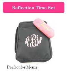 Monogrammed Bible Cover (EB00150) and Glasses Case (GG0078-0200)  Pink  $60 (includes all personalization fees)