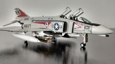 "Hobby Master 1/72 McDonnell Douglas F-4B Phantom II VF-14 ""Tophatters"" BuNo 152292/AB101, USS John F. Kennedy, Nov. 1972"