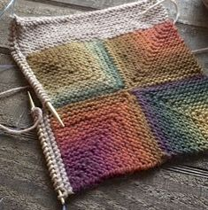 Mitered Squares Throw With a Fabric Lining | Italian Dish Knits