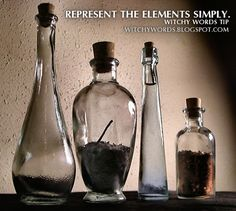 Witchy Words Tip: Represent the Elements on your altar Simply Wicca Witchcraft, Pagan Witch, Which Witch, Hedge Witch, Practical Magic, Kitchen Witch, Book Of Shadows, Stems, Altars