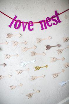 "FREE ""love nest"" banner #printable #free #ValentinesDay"